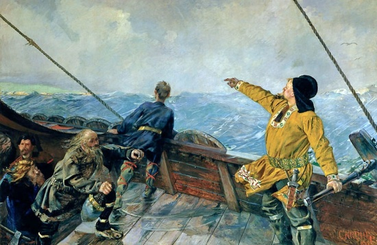 Leif Erikson painting